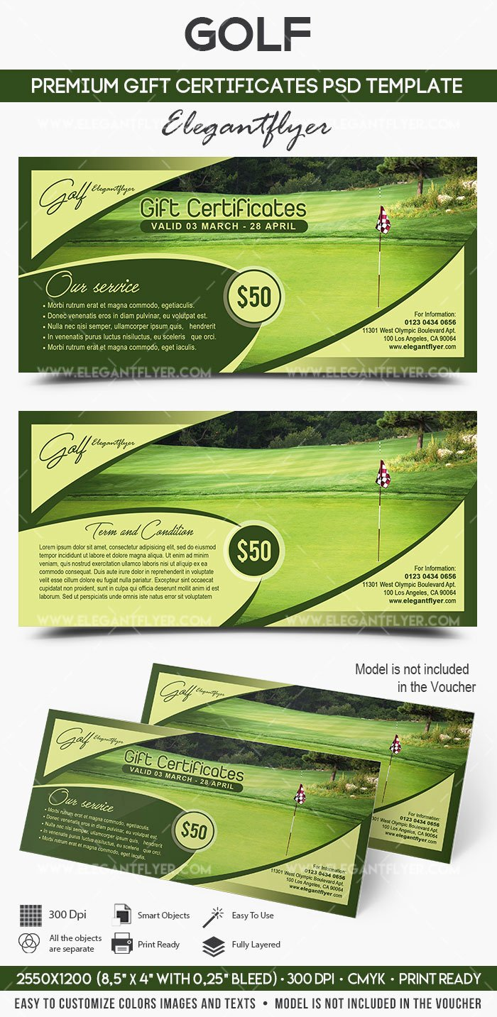 Golf Gift Certificate Template Lovely Golf – Premium Gift Certificate Psd Template – by Elegantflyer