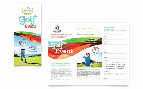 Golf Lesson Gift Certificate Template Inspirational Golf tournament Flyer Template Word & Publisher