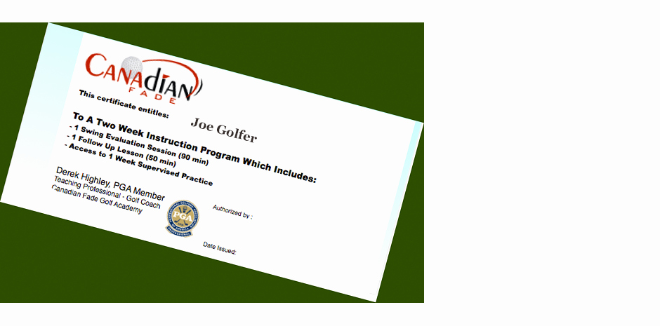 Golf Lesson Gift Certificate Template Lovely Golf Lessons London Tario Professional Golf