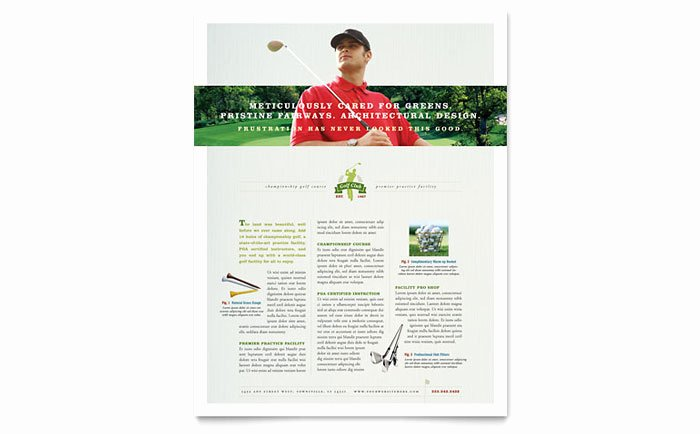 Golf Lesson Gift Certificate Template New Golf Course & Instruction Flyer Template Design