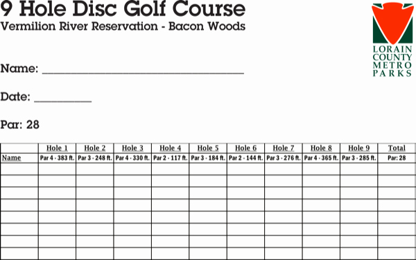Golf Scorecard Template Word Inspirational Download Disc Golf Scorecard for Free formtemplate