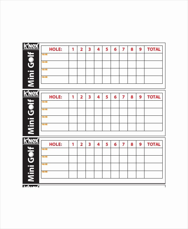 Golf Scorecard Template Word Luxury 12 Golf Scorecard Templates Pdf Word Excel