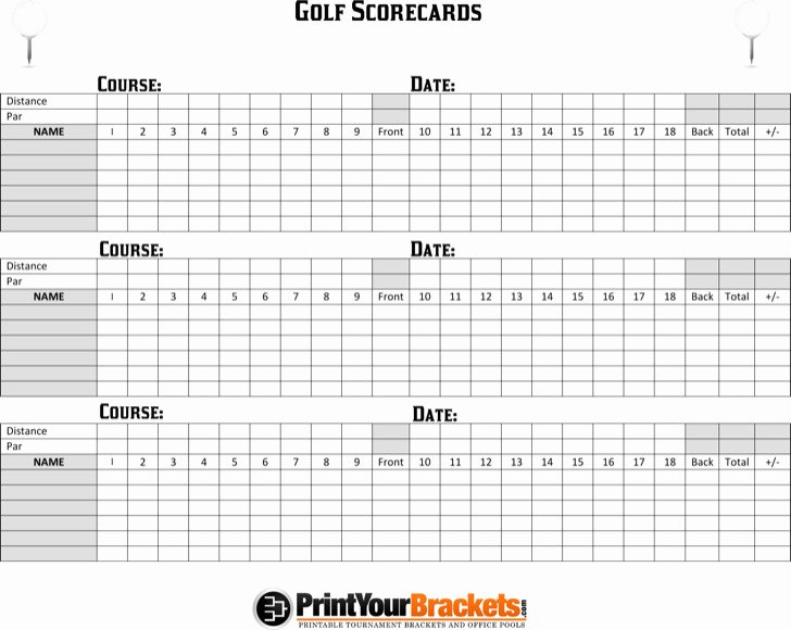 Golf Scorecard Template Word Unique Golf Scorecard Templates