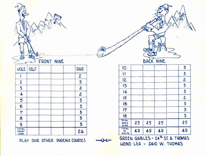 Golf Scorecard Template Word Unique Mini Golf Scorecard