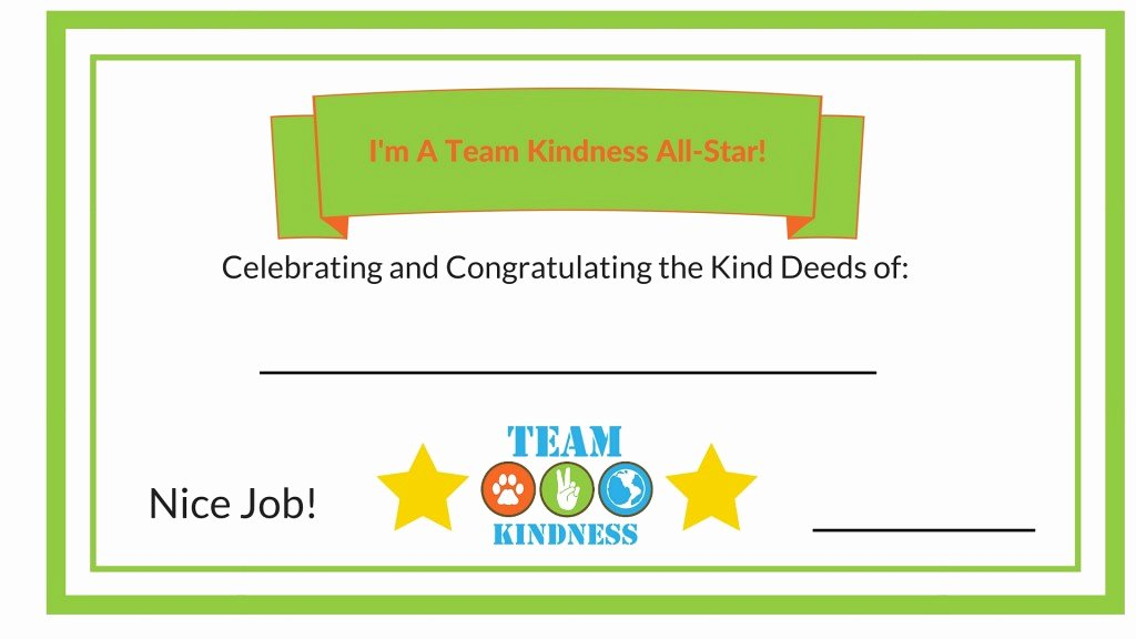 Good Samaritan Award Certificates Elegant All Stars