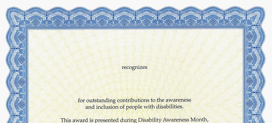 Good Samaritan Award Certificates Inspirational Downloads Indiana Disability Awareness