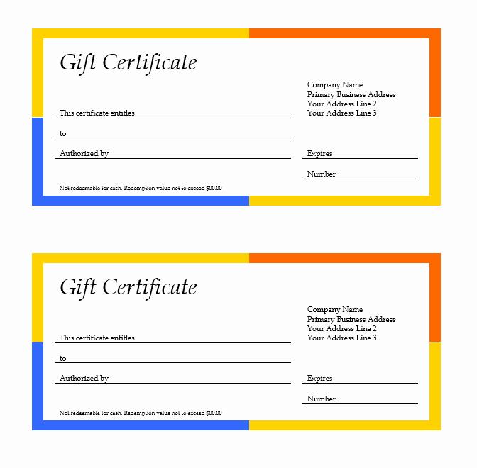 Google Doc Certificate Template Beautiful Google Docs Gift Certificate Template