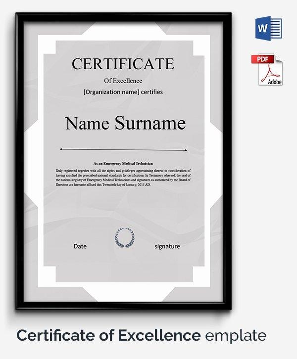 Google Doc Certificate Template Luxury Certificate Template 50 Free Printable Word Excel Pdf