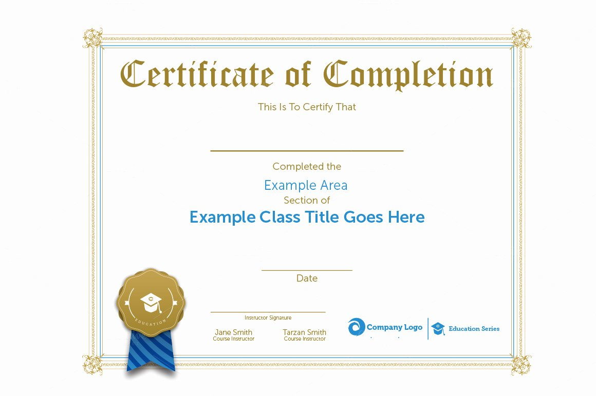 Google Docs Certificate Of Completion Awesome Class Certification Certificate Stationery Templates On