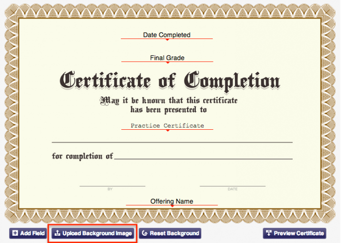 Google Docs Certificate Of Completion Best Of 6 Steps to Customize Your Certificate Background
