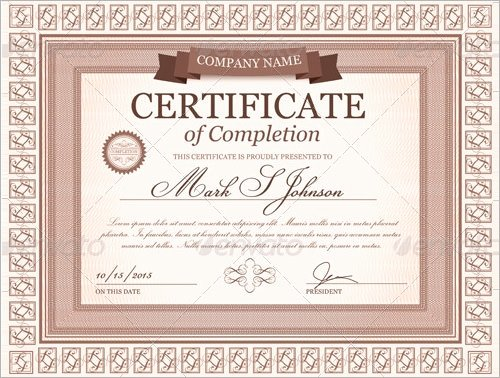 Google Docs Certificate Of Completion Elegant Certificate Template 33 Download Documents In Pdf Word