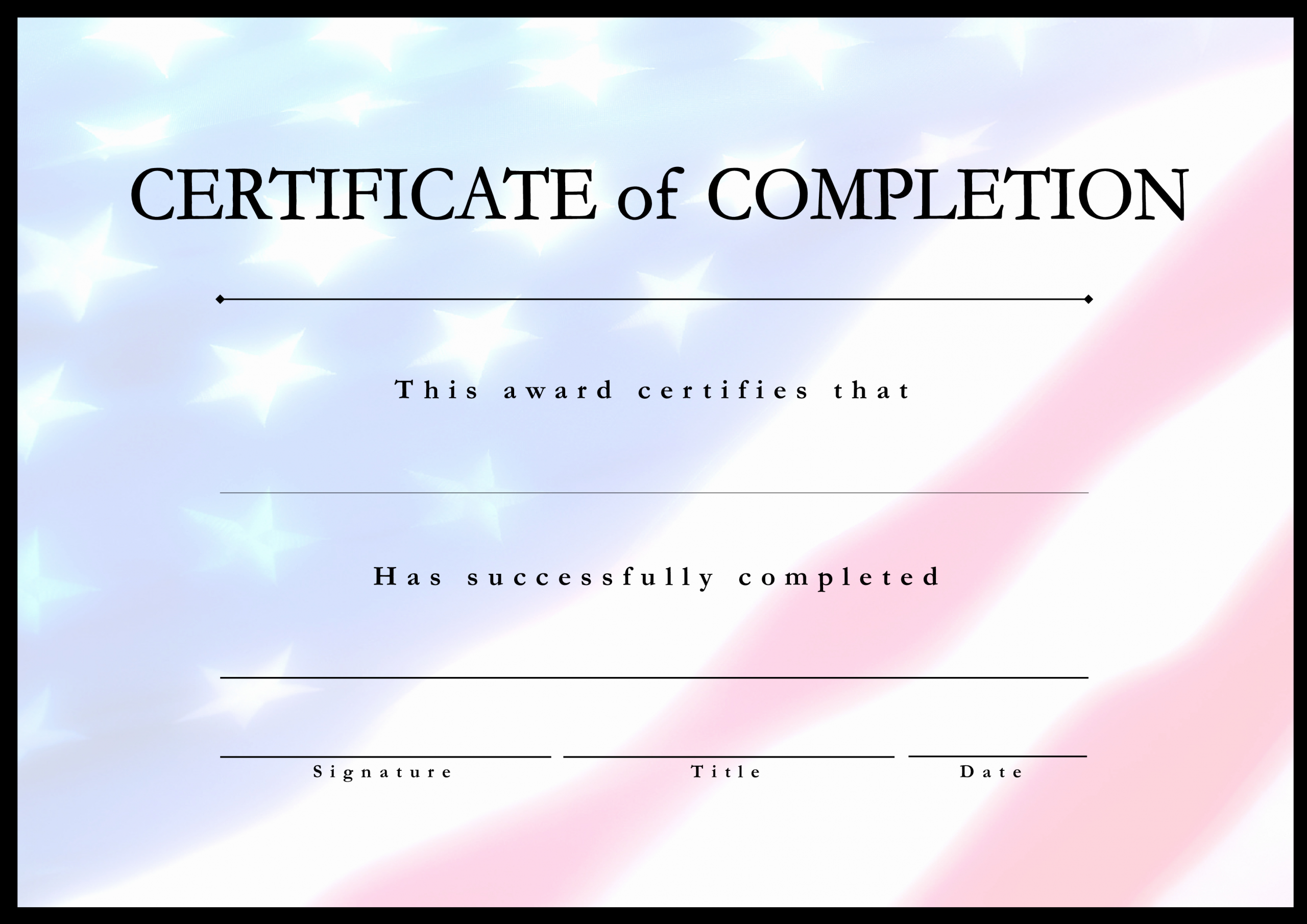 Google Docs Certificate Of Completion Inspirational Certificate Pletion Usa Project
