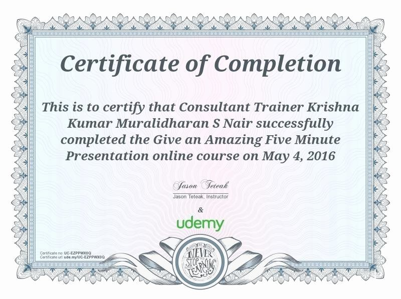 Google Docs Certificate Of Completion New Krishna Kumar Master Coach In Koramangala Bangalore