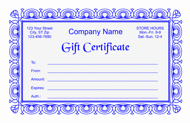 Google Docs Certificate Template Beautiful Gift Certificate Template 2