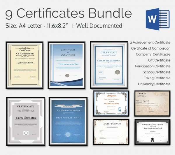 Google Docs Certificate Template Unique Certificate Template 50 Free Printable Word Excel Pdf