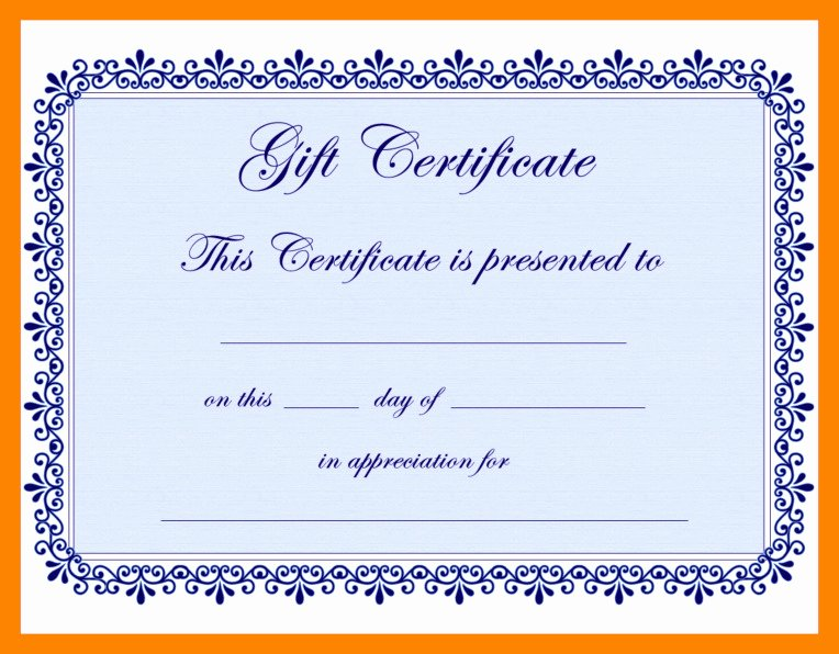 Google Docs Certificate Template Unique Gift Certificate Template Google Docs – Habada