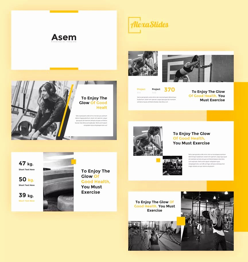 Google Slides Certificate Template Awesome asem Gym Google Slides Presentation Template 30 total