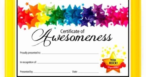 Google Slides Certificate Template Lovely Certificate Template for Kids Google Search