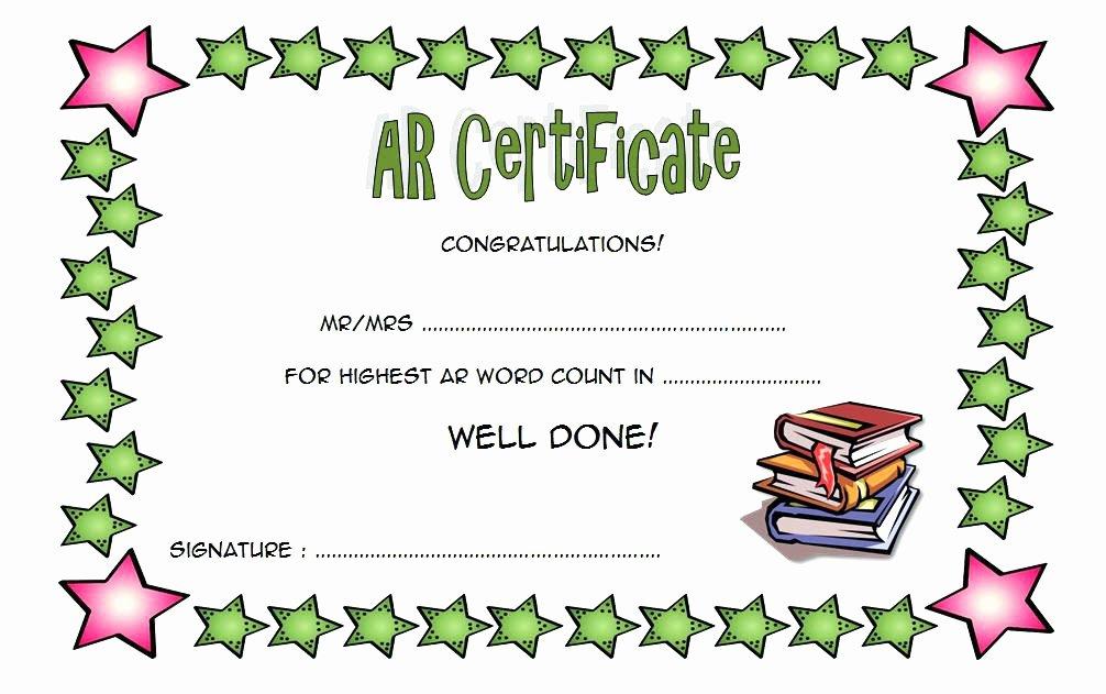 Google Slides Certificate Template Lovely Free Reading Award Certificate Templates – Dmodo
