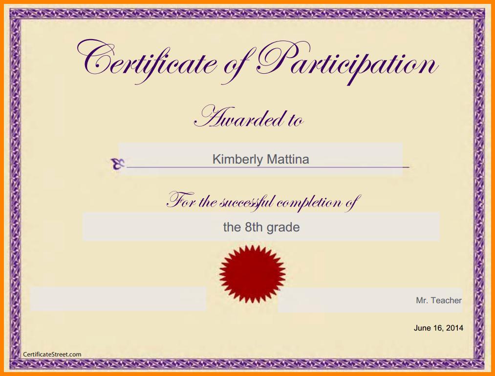 Google Slides Certificate Template Unique Certificate Template Google Docs