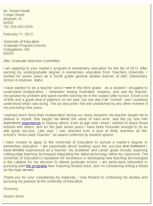 Graduate Letter Of Intent Example Best Of Sample Letter Of Intent for Graduate School