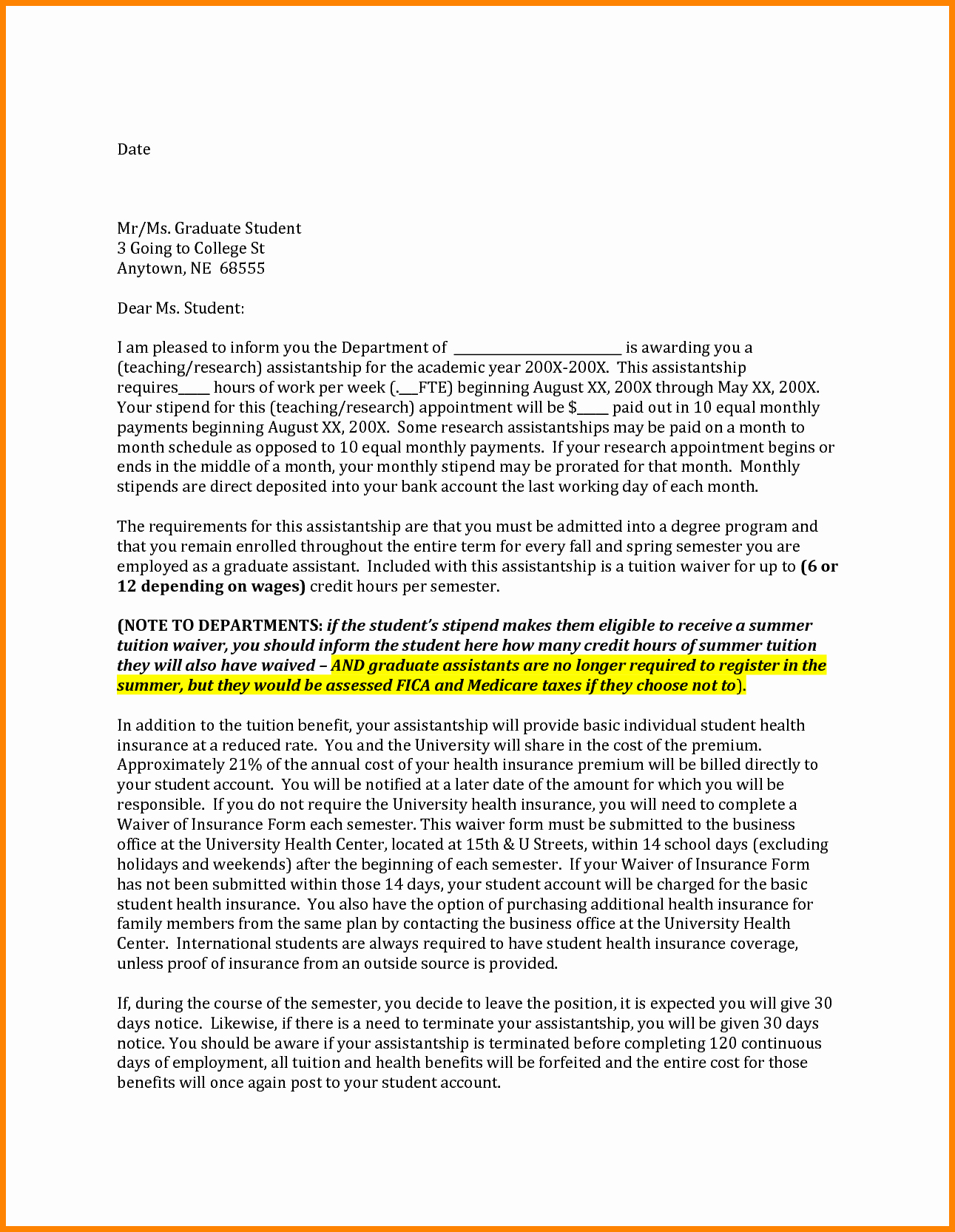 Graduate Letter Of Intent Example New 6 Graduate School Letter Of Intent Sample