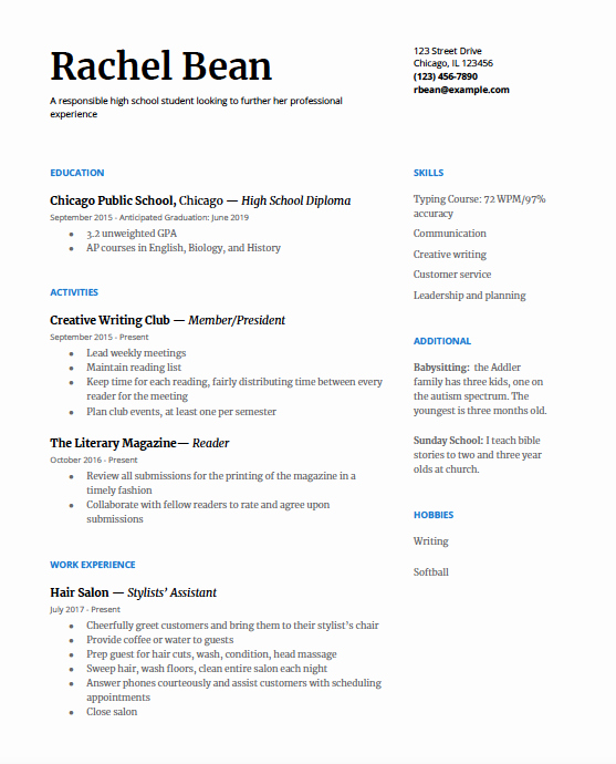Graduated with Honors On Resume Awesome High School Resume A Step by Step Guide College Greenlight
