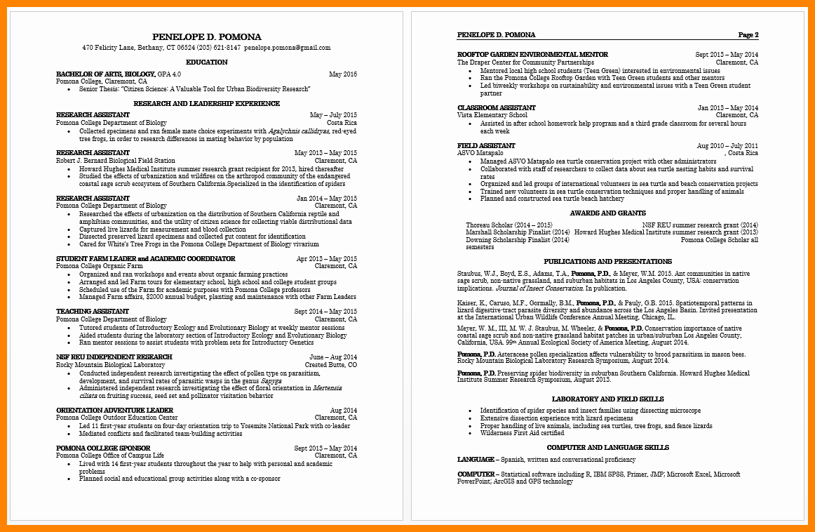 Graduated with Honors Resume Best Of 8 Cv Sample for College Students