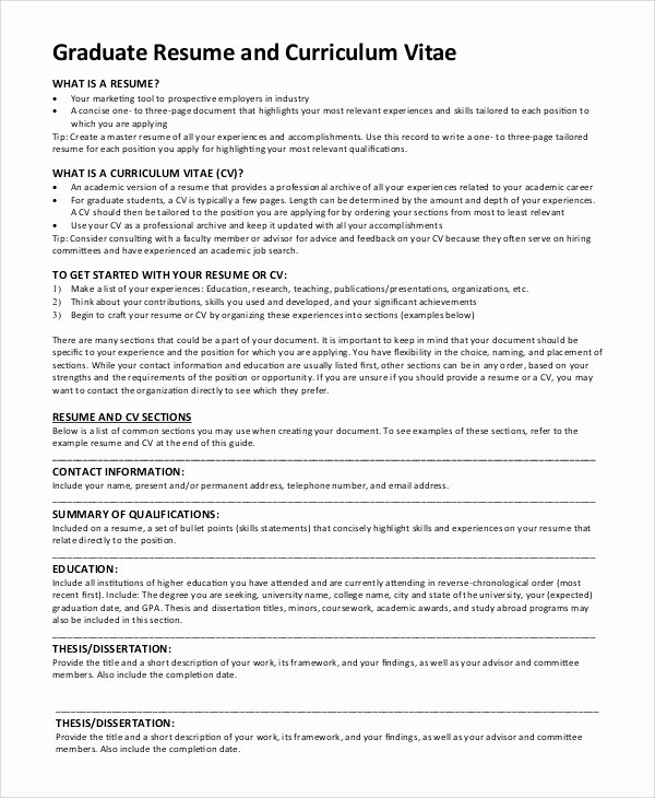 Graduated with Honors Resume Inspirational Sample Graduate School Resume 9 Examples In Pdf Word