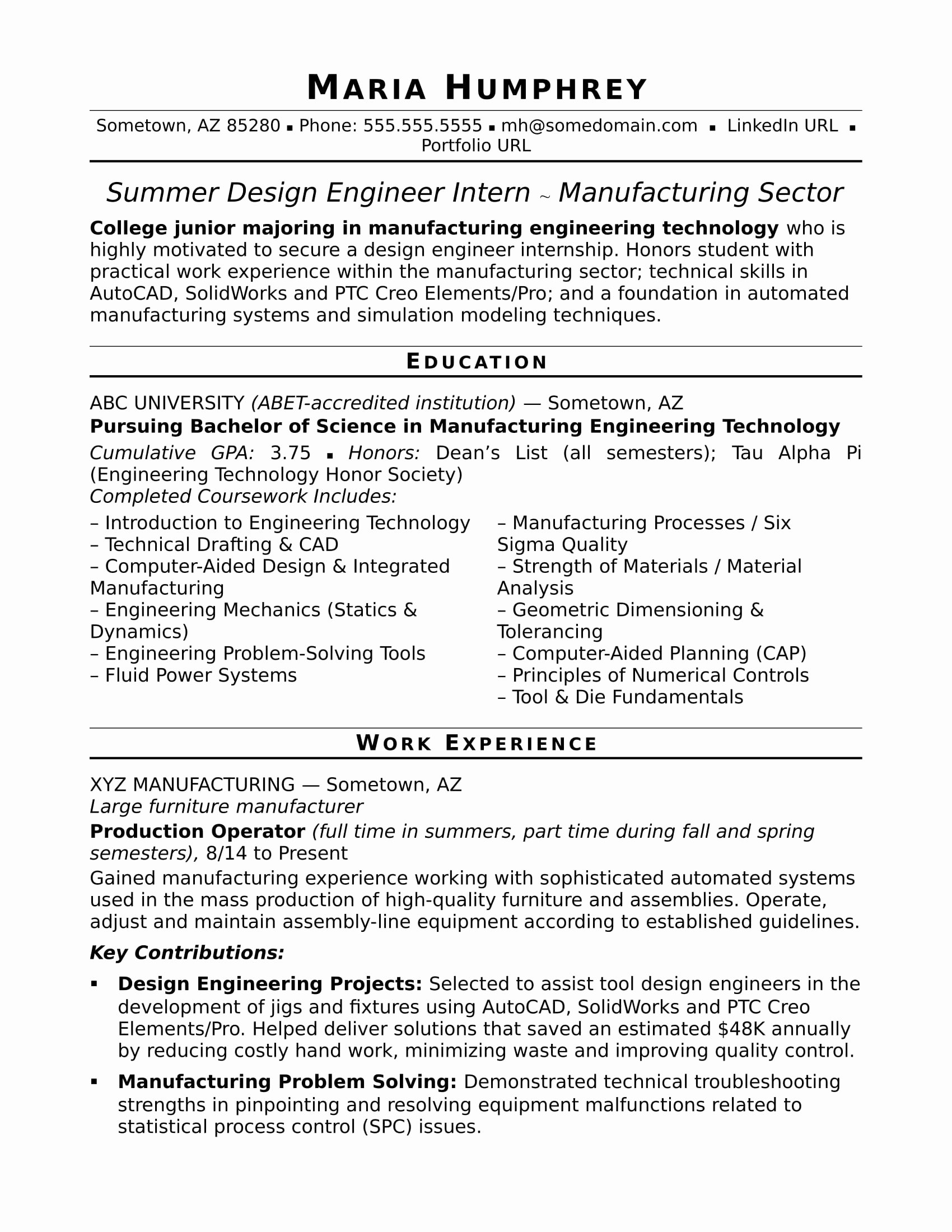 Graduated with Honors Resume Inspirational Sample Resume for An Entry Level Design Engineer