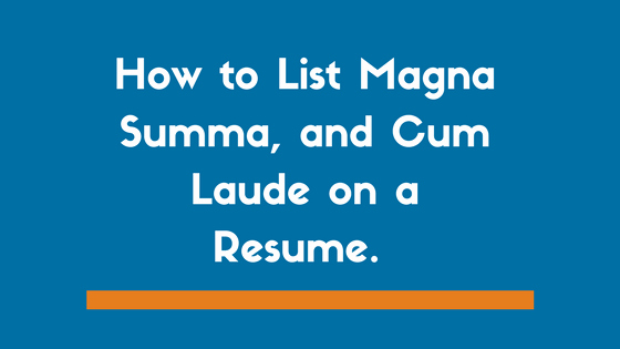 Graduated with Honors Resume Sample Best Of Does E Italicize Summa Cum Laude In A Cover Letter