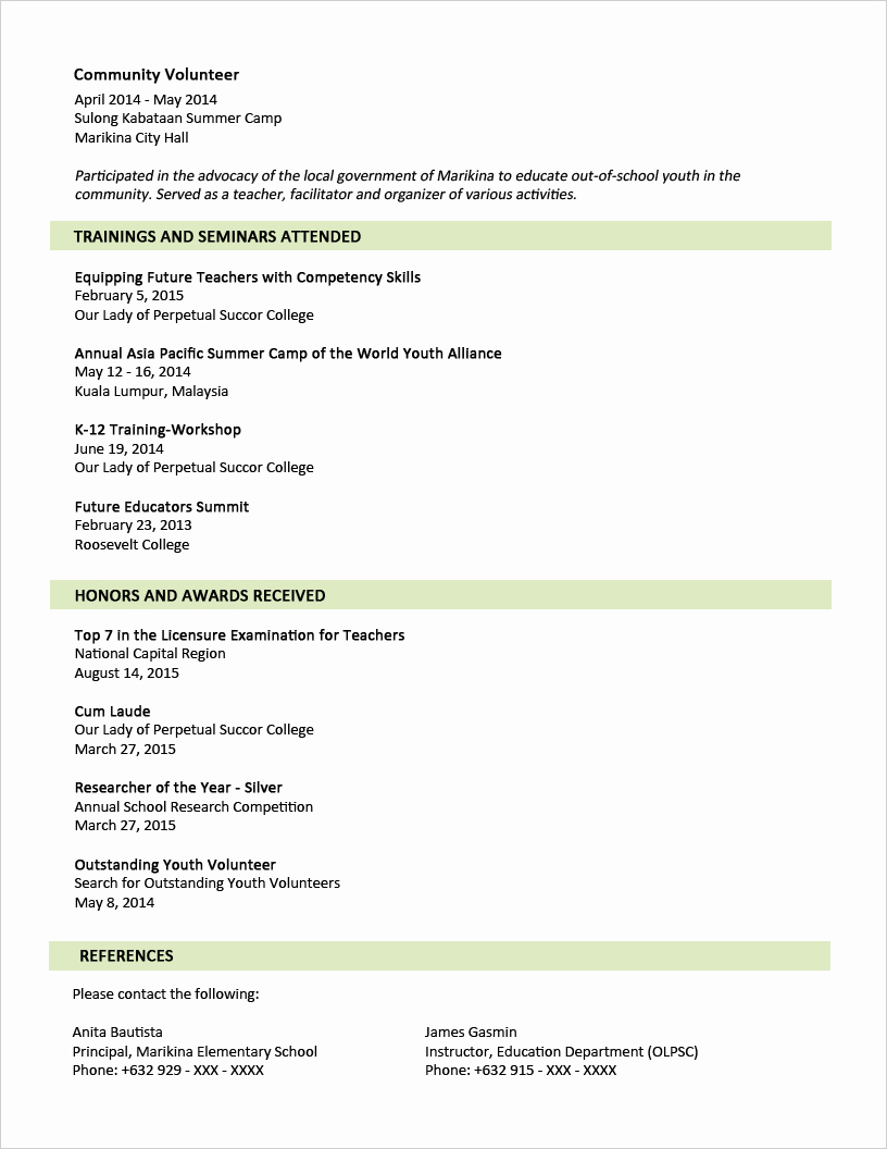 Graduated with Honors Resume Sample Fresh 30 Simple and Basic Resume Templates for All Jobseekers