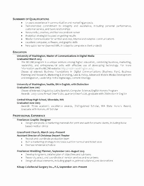 Graduated with Honors Resume Unique Resume Custodian – Skinalluremedspa