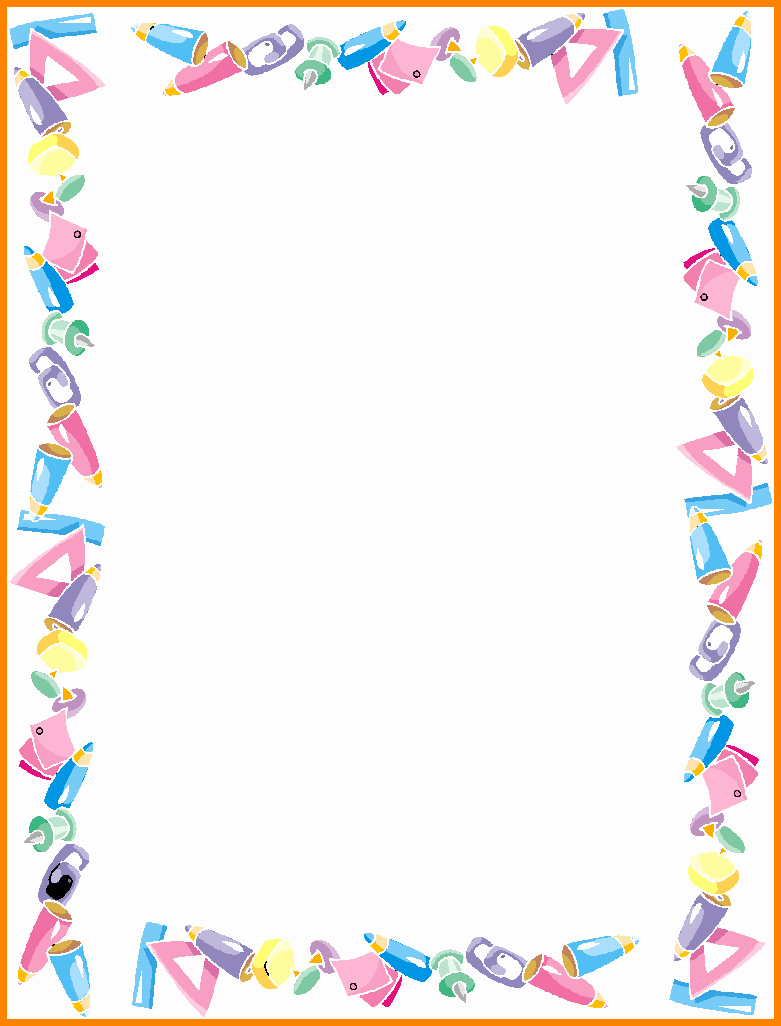 Graduation Border Paper Printable Beautiful Graduation Border
