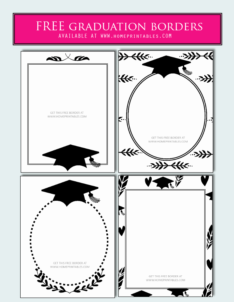 Graduation Border Paper Printable Luxury 15 Free Graduation Borders with 5 New Designs Home
