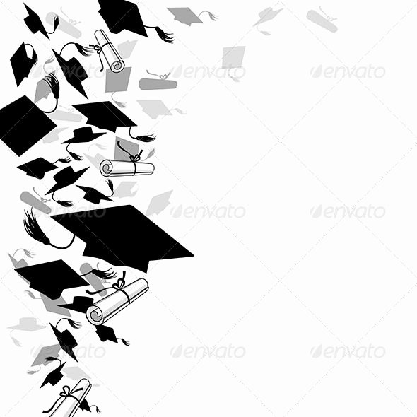 Graduation Borders and Backgrounds Inspirational Graduate Caps and Diploma Fonts Logos Icons