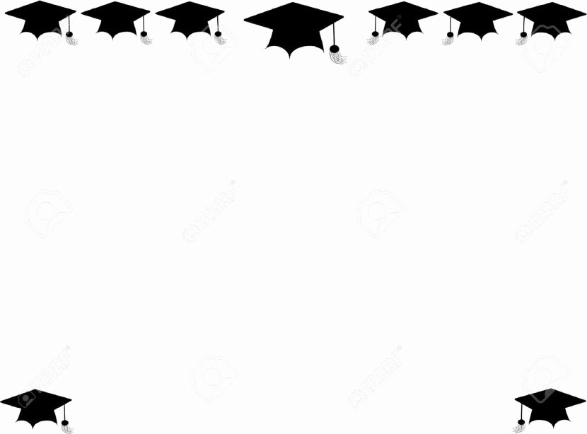 Graduation Borders and Backgrounds Unique Graduation Border Clipartion