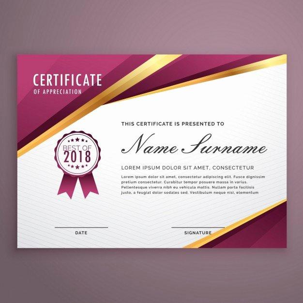 Graduation Certificate Of Appreciation Elegant Honor Vectors S and Psd Files