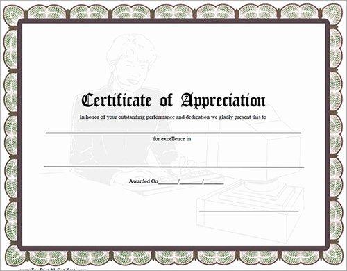 Graduation Certificate Of Appreciation Fresh 14 Sample Certificates