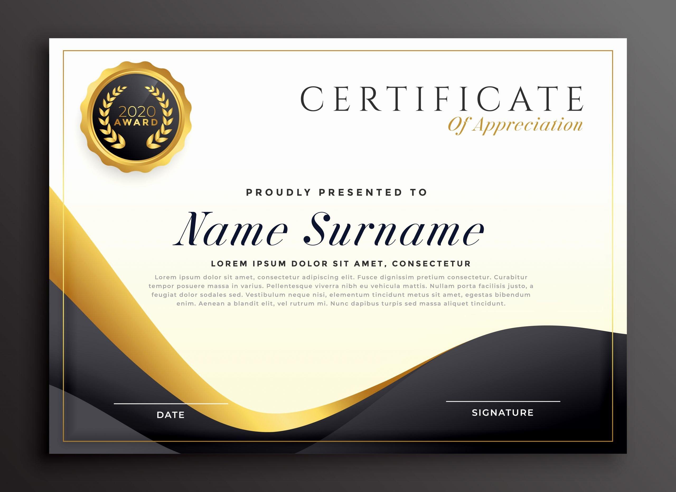 Graduation Certificate Of Appreciation Fresh Luxury Certificate Of Appreciation Template Download