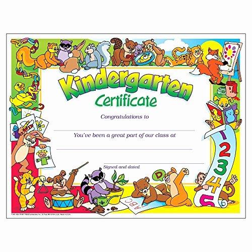 Graduation Certificate Of Appreciation Lovely Kindergarten Graduation Certificates Amazon