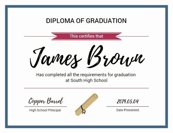 Graduation Certificate Of Appreciation Lovely Line Diploma Graduation Certificate Template