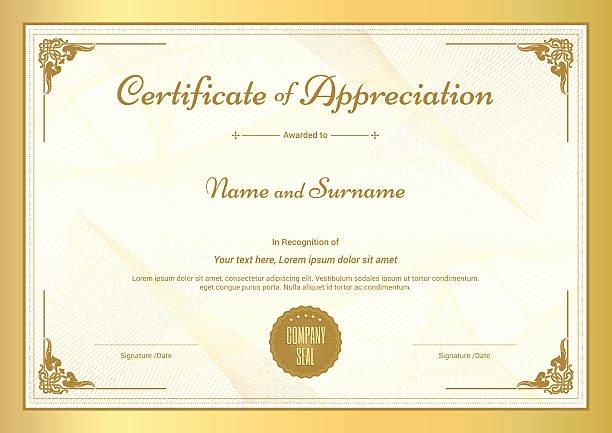 Graduation Certificate Of Appreciation Luxury Certificate Clip Art Vector & Illustrations istock
