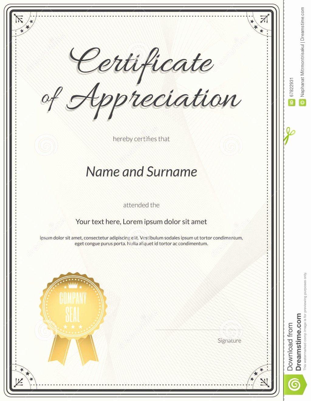 Graduation Certificate Of Appreciation Unique Certificate In Appreciation Template