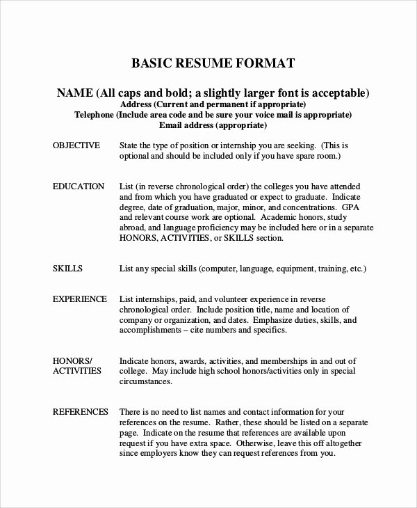 Graduation Date On Resume Fresh Basic Resume Samples Examples Templates 8 Documents