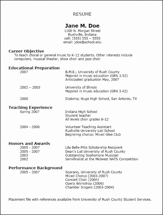 Graduation Date On Resume New Resumes Nafme