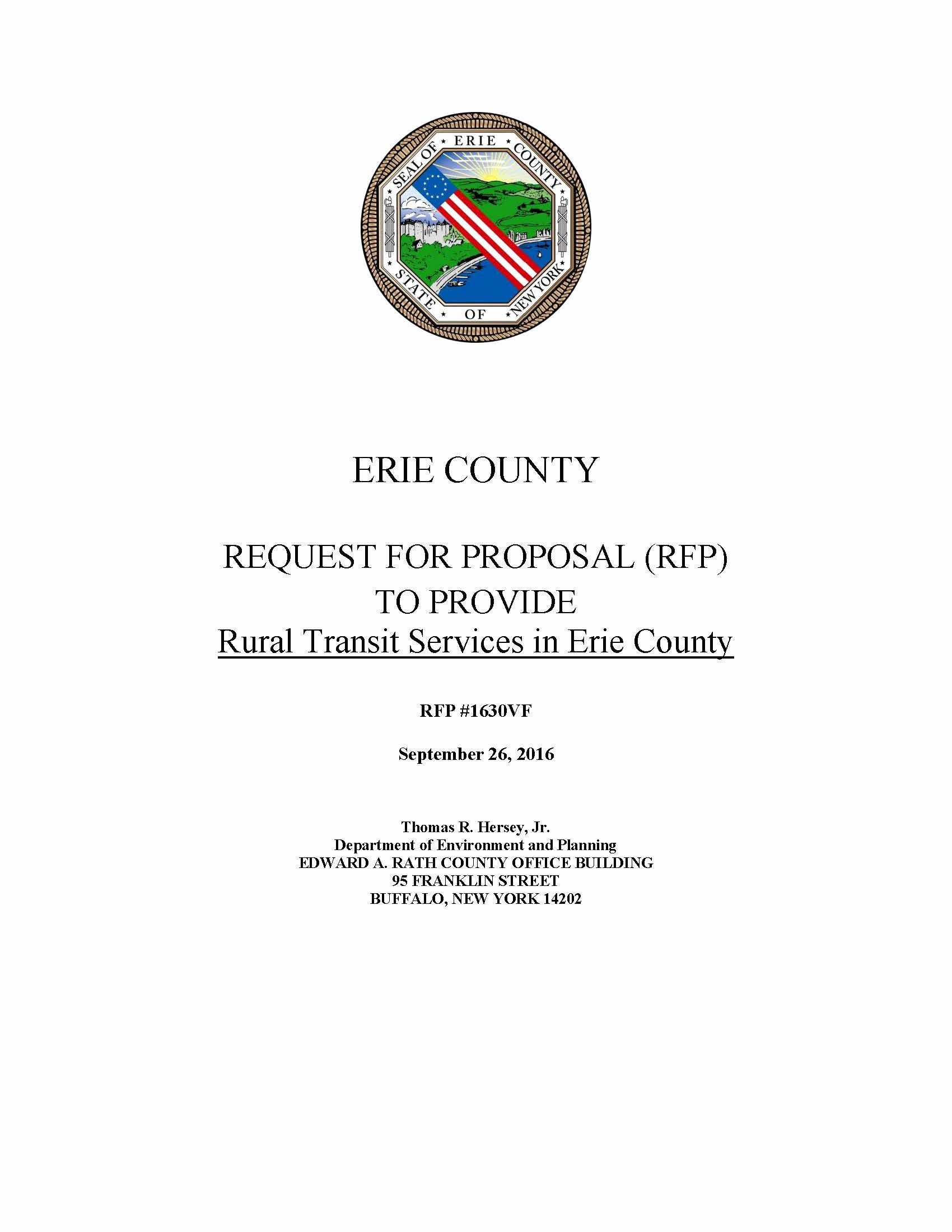 Grant Cover Page Awesome Request for Proposal Rfp to Provide Rural Transit