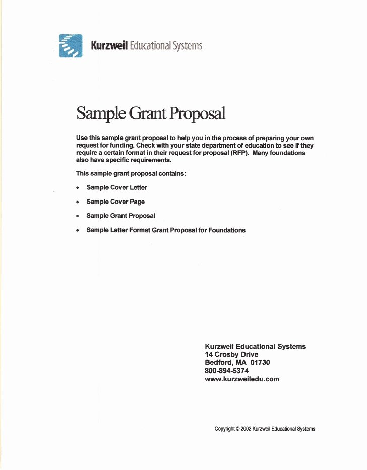 Grant Cover Page Luxury Sample Grant Proposal