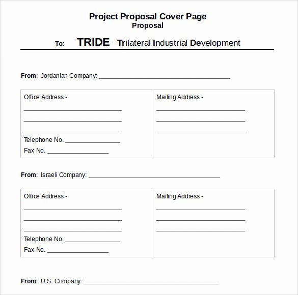 Grant Cover Page New Sample Proposal Cover Page Template 14 Free Documents
