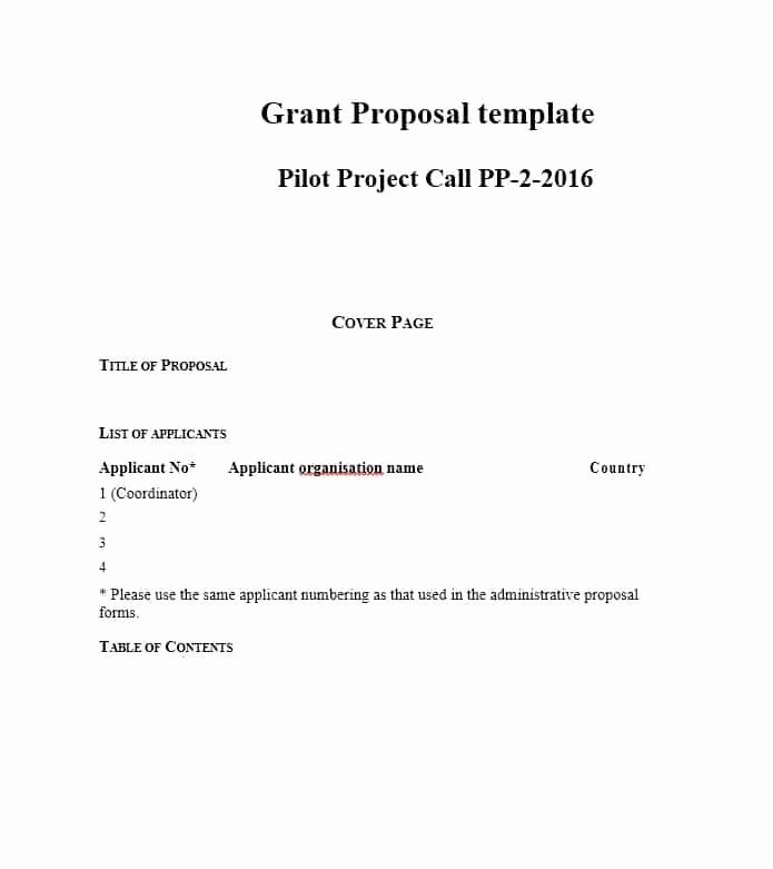 Grant Proposal Cover Page New 40 Grant Proposal Templates [nsf Non Profit Research]